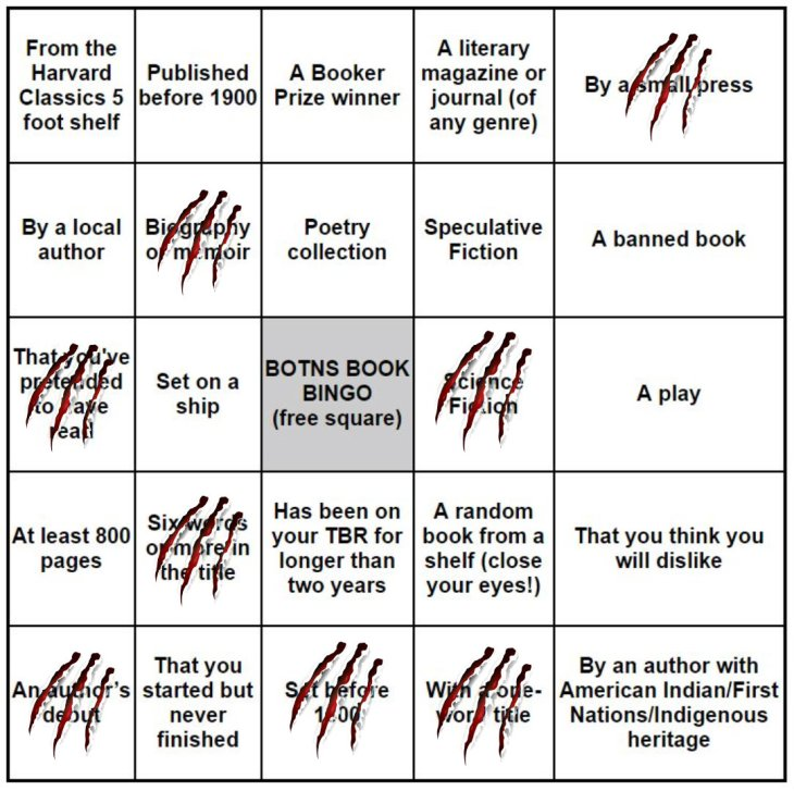 Book Bingo Update